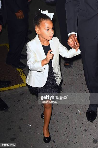 Jay-Z and his daughter Blue Ivy seen at Hammerstein Ballroom for the CFDA Awards on June 6, 2016 in New York City.