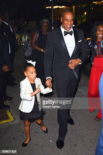 JayZ and his daughter Blue Ivy seen at Hammerstein Ballroom for the CFDA Awards on June 6 2016 in New York City
