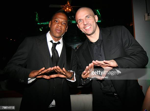 JayZ and Jason Kidd attends 2008 NBA AllStar in New Orleans Doublemint Gum Presents the 2nd Annual JayZ and LeBron James Two Kings Dinner February 16...