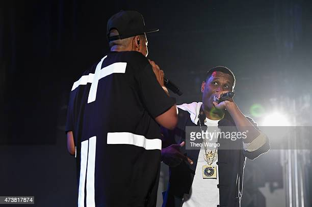 JayZ and Jay Electronica perform during TIDAL X JayZ Bsides in NYC on May 17 2015 in New York City