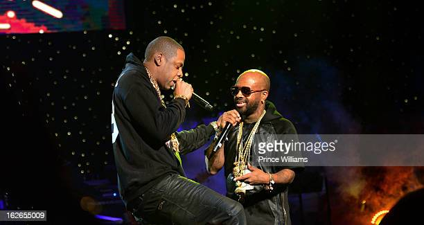 JayZ and Jermain Dupri perform at the So So Def 20th anniversary concert at the Fox Theater on February 23 2013 in Atlanta Georgia