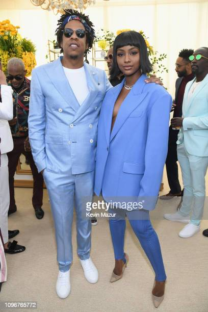 JayZ and Justine Skye attend 2019 Roc Nation THE BRUNCH on February 9 2019 in Los Angeles California