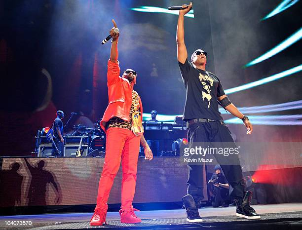 JayZ and Kanye West perform at Yankee Stadium on September 13 2010 in New York New York