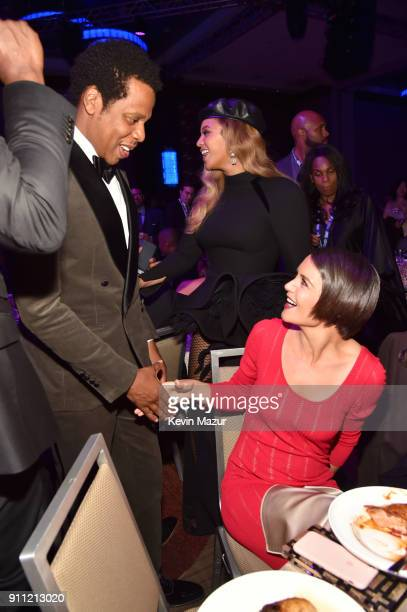 JayZ and Katie Holmes attend the Clive Davis and Recording Academy PreGRAMMY Gala and GRAMMY Salute to Industry Icons Honoring JayZ on January 27...