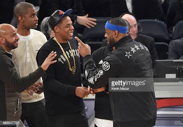 JayZ and Lebron James attend The 64th NBA AllStar Game 2015 on February 15 2015 in New York City