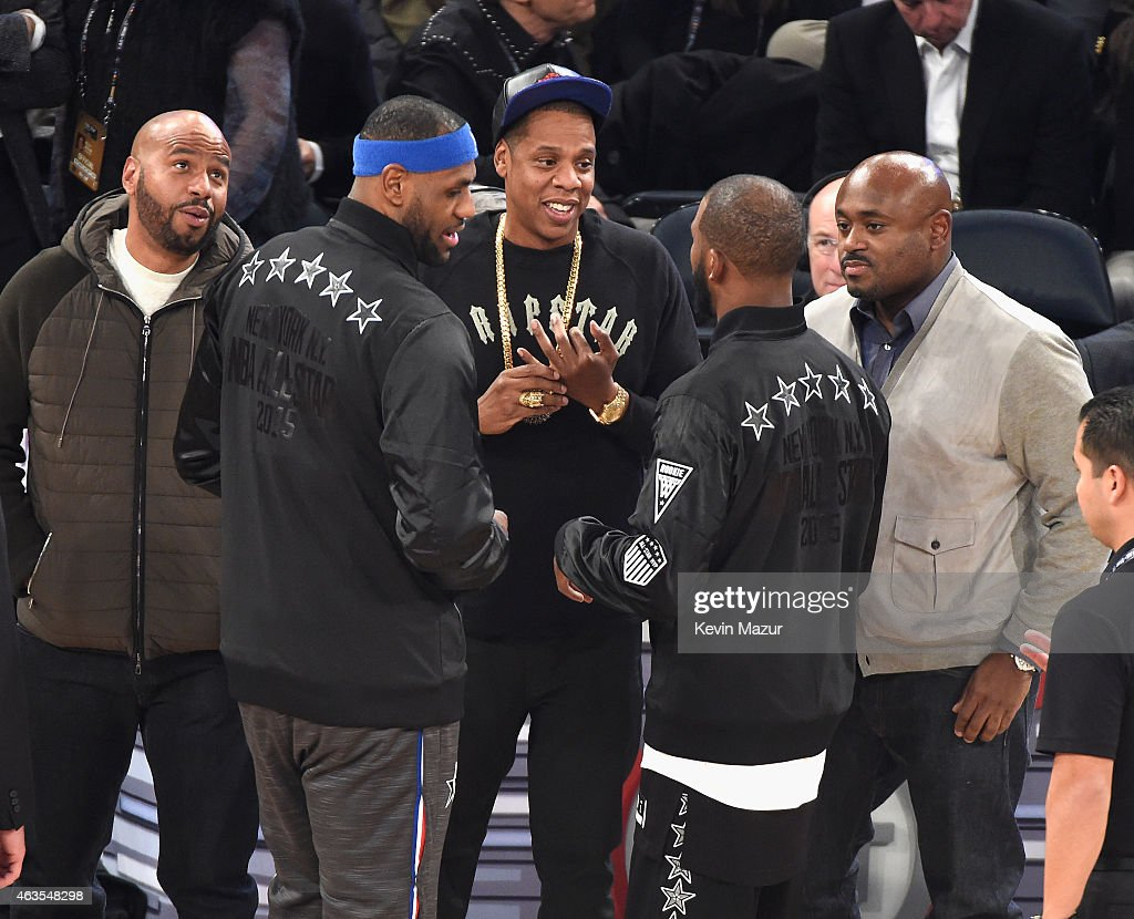 Celebrities Attend The 64th NBA All-Star Game 2015 : News Photo