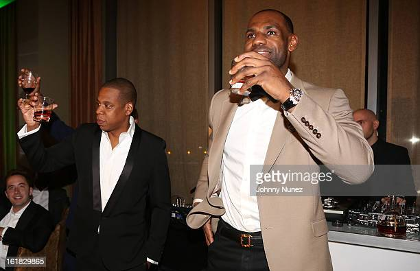 JayZ and LeBron James attend The Two Kings Dinner presented by Sprite at RDG Bar Annie on February 16 2013 in Houston Texas