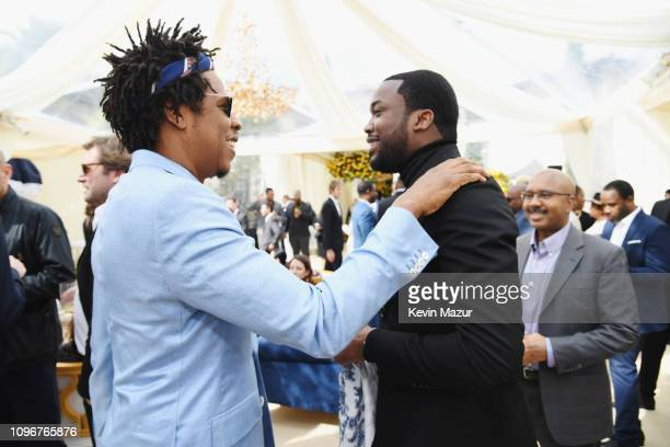 JayZ and Meek Mill attend 2019 Roc Nation THE BRUNCH on February 9 2019 in Los Angeles California
