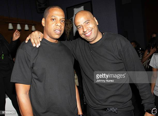 JayZ and 'OG' Juan Perez attend JayZ's Official Madison Square Garden Concert After Party at the 40 / 40 Club on March 2 2010 in New York City
