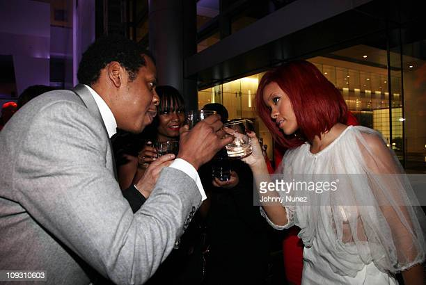 JayZ and Rihanna attend the 5th Annual Two Kings after party at CAA on February 19 2011 in Los Angeles California