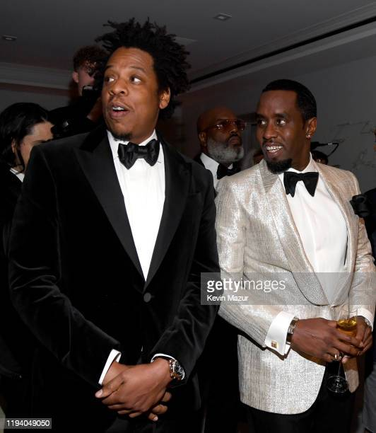 JayZ and Sean Combs attend Sean Combs 50th Birthday Bash presented by Ciroc Vodka on December 14 2019 in Los Angeles California