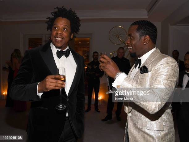 Jay-Z and Sean Combs attend Sean Combs 50th Birthday Bash presented by Ciroc Vodka on December 14, 2019 in Los Angeles, California.