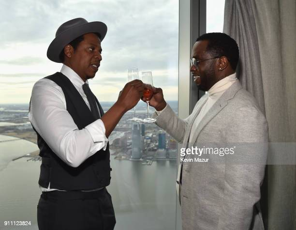 JayZ and Sean 'Diddy' Combs attend Roc Nation THE BRUNCH at One World Observatory on January 27 2018 in New York City