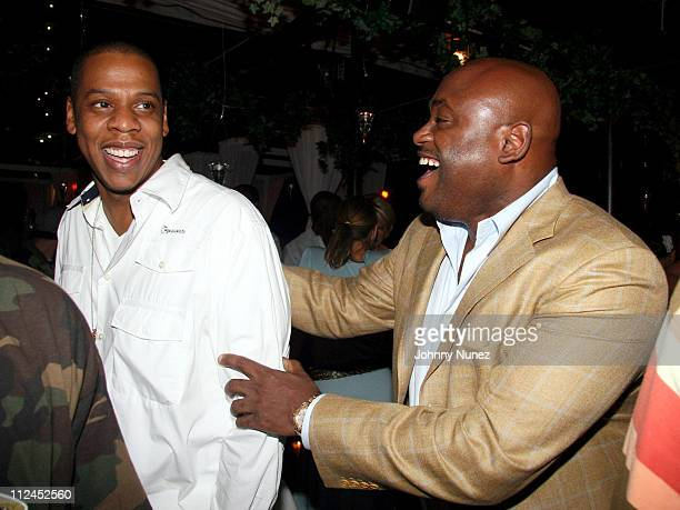 JayZ and Steve Stoute during Rocawear Lingerie Launch Party Hosted By JayZ at BED in New York City New York United States
