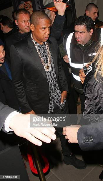 JayZ at Mason House night club on March 1 2014 in London England