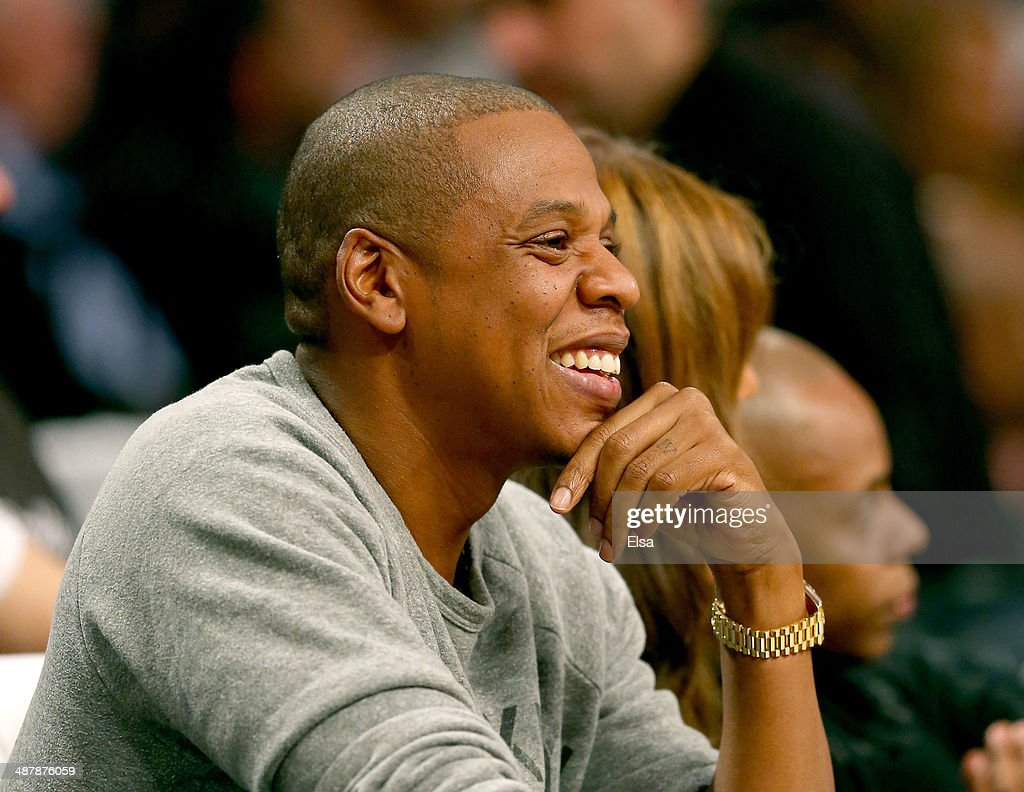 Jay-Z attends Game Six of the Eastern Conference Quarterfinals during the 2014 NBA Playoffs at the Barclays Center on May 2, 2014 in the Brooklyn borough of New York City.