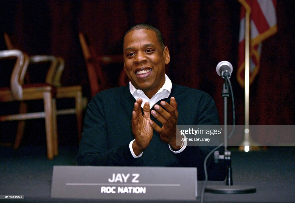Jay-Z attends Nassau Veterans Memorial Coliseum Presentation at Nassau County Police Department Headquarters on May 2, 2013 in Mineola, New York.