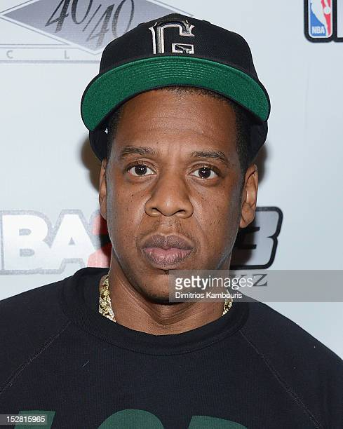 JayZ attends NBA 2K13 Premiere Launch Party at 40 / 40 Club on September 26 2012 in New York City