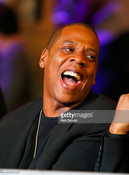 JayZ attends Roc Nation Sports presents throne boxing January 9th event live on FOX Sports 1 from The Theater at Madison Square Garden on January 9...