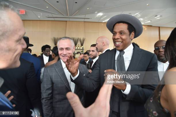 JayZ attends Roc Nation THE BRUNCH at One World Observatory on January 27 2018 in New York City