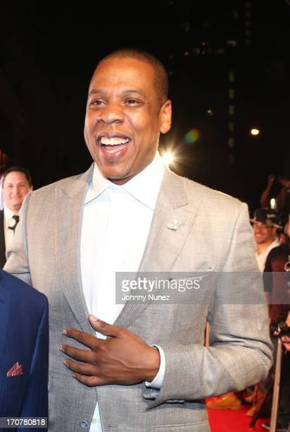 JayZ attends The 40/40 Club 10 Year Anniversary Party at 40 / 40 Club on June 17 2013 in New York City