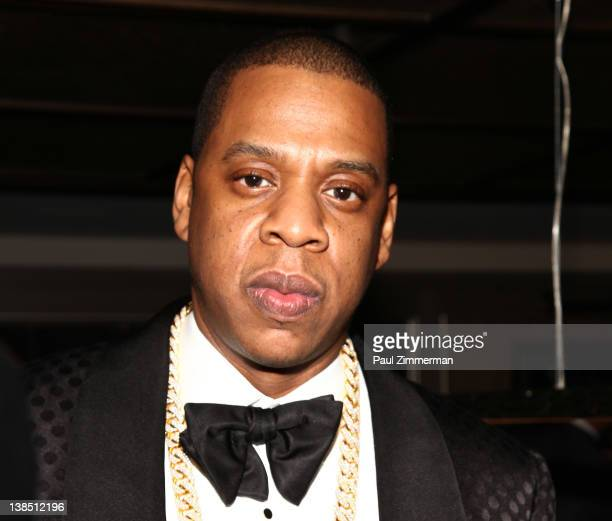 JayZ attends the after party following JayZ's concert at Carnegie Hall to benefit The United Way Of New York City and the Shawn Carter Foundation at...