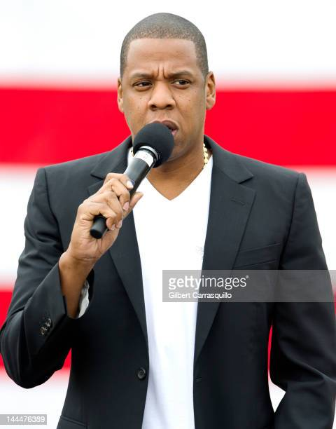 Jay-Z attends the press conference announcing the 'Budweiser Made in America' music festival at Philadelphia Museum of Art on May 14, 2012 in...