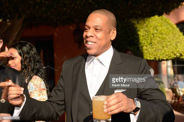 Jay-Z attends the Roc Nation Pre-GRAMMY Brunch presented by MAC Viva Glam at Private Residence on January 25, 2014 in Beverly Hills, California.