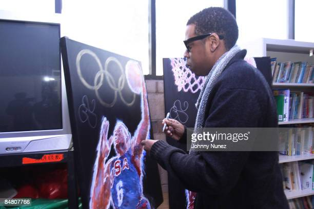 JayZ attends the Sprite Green Instrument Donation on February 14 2009 in Mesa Arizona