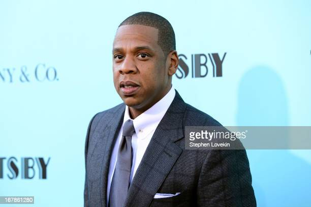 JayZ attends the The Great Gatsby world premiere at Avery Fisher Hall at Lincoln Center for the Performing Arts on May 1 2013 in New York City
