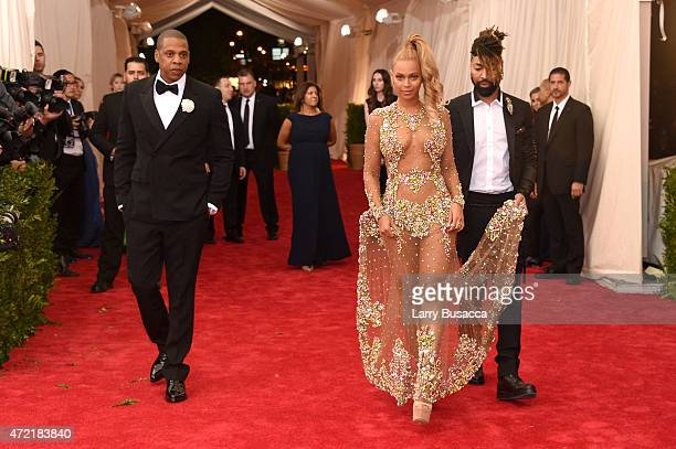 JayZ Beyonce and Ty Hunter attend the China Through The Looking Glass Costume Institute Benefit Gala at the Metropolitan Museum of Art on May 4 2015...