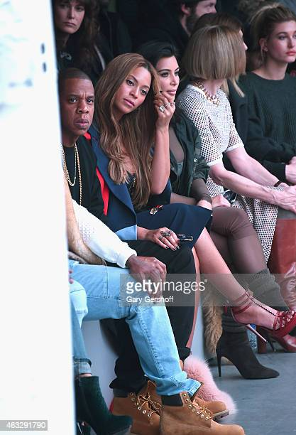 97bc789004 JayZ Beyonce Knowles and Kim Kardashian attend the adidas show during MercedesBenz  Fashion Week Fall 2015