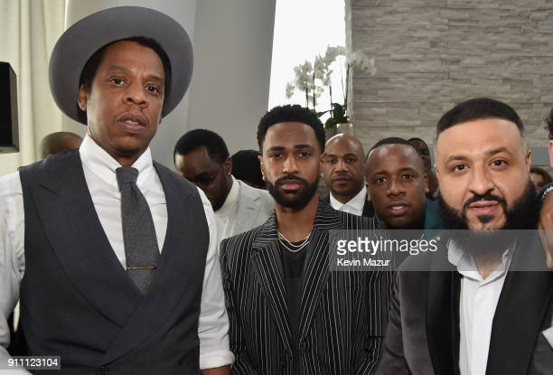JayZ Big Sean Yo Gotti and DJ Khaled attend Roc Nation THE BRUNCH at One World Observatory on January 27 2018 in New York City