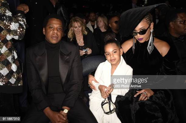 JayZ Blue Ivy and Beyonce at THE 60TH ANNUAL GRAMMY AWARDS broadcast live on both coasts from New York Citys Madison Square Garden on Sunday Jan 28...