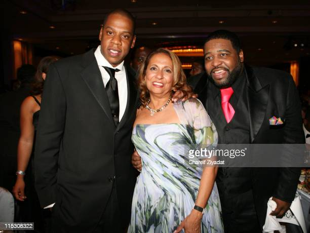 JayZ Cathy Hughes and Jerald Levert during Radio One's 25th Anniversary Awards Dinner Gala at JW Marriot in Washington DC United States