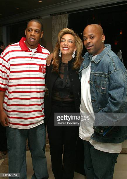 JayZ Denise Rich and Damon Dash during The Foundation for Ethnic Understanding Honors JayZ and Barry Weiss of Jive Records at Home of Denise Rich in...