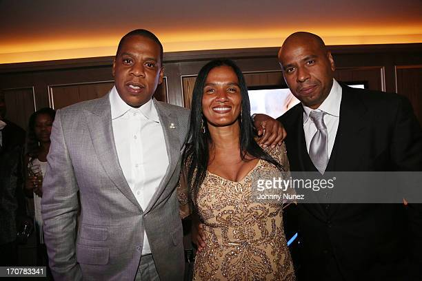 JayZ Desiree Perez and Juan 'OG' Perez attend The 40/40 Club 10 Year Anniversary Party at 40 / 40 Club on June 17 2013 in New York City