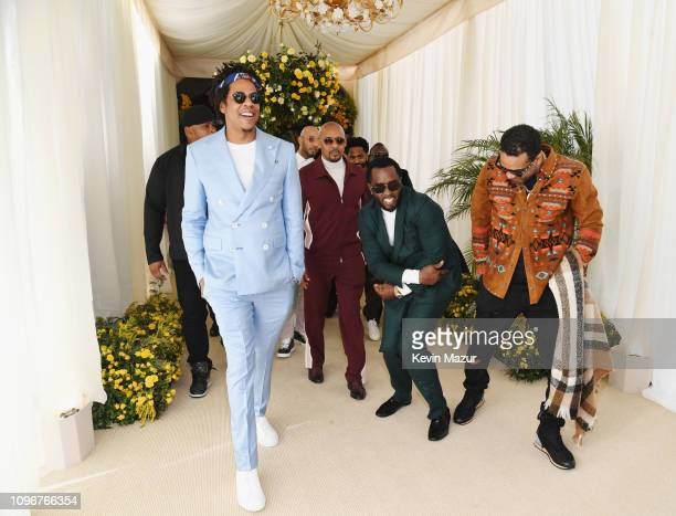 Jay-Z, Diddy and Jim Jones attend 2019 Roc Nation THE BRUNCH on February 9, 2019 in Los Angeles, California.