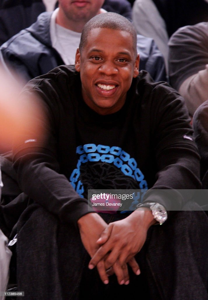 finest selection 2714f f5c62 Jay-Z during Celebrities Attend New Jersey Nets vs New York ...