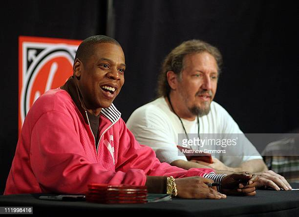 JayZ during Jay Z Signing at Virgin Megastore at Hollywood and Highland in Los Angeles California United States