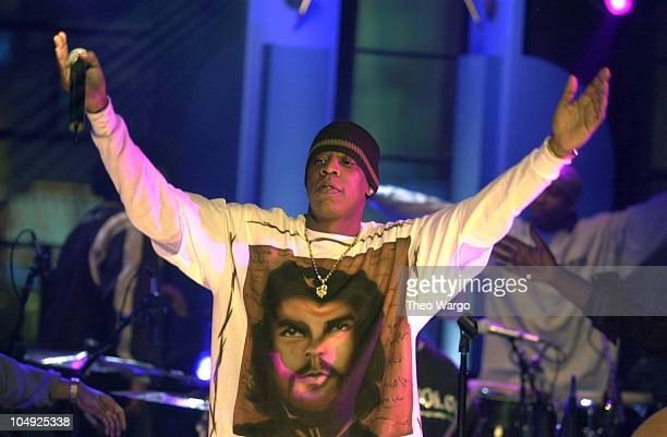 JayZ during JayZ performs on MTV's 'Unplugged' at the MTV studios in Times Square at MTV studiosTimes Square in New York City New York United States