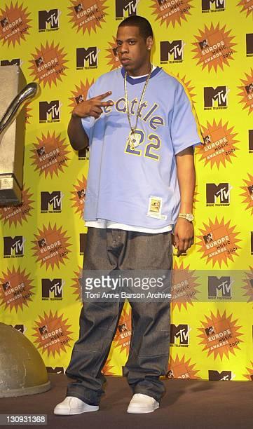 JayZ during MTV Europe Music Awards 2001 Press Room at Festhalle in Frankfurt Germany