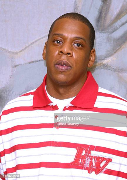 JayZ during The Foundation for Ethnic Understanding Honors JayZ and Barry Weiss of Jive Records at Home of Denise Rich in New York City New York...