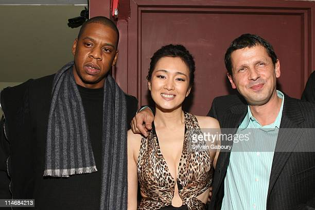 JayZ Gong Li and Peter Webber during MetroGoldwynMayer Pictures' and The Weinstein Company's Premiere After Party for 'Hannibal Rising' at Providence...