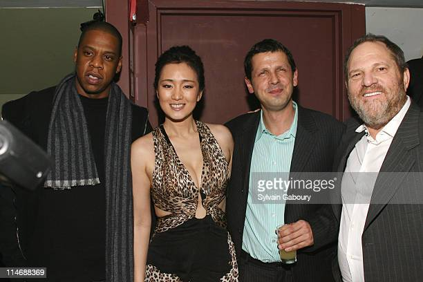 JayZ Gong Li Peter Webber and Harvey Weinstein during MetroGoldwynMayer Pictures' and The Weinstein Company's Premiere After Party for 'Hannibal...