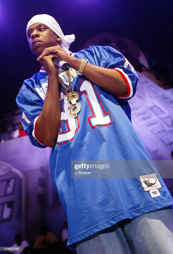 Jay-Z in Concert during Sprite Liquid Mix Tour 2002 at Shoreline Amphitheatre in Mountain View, California, United States.