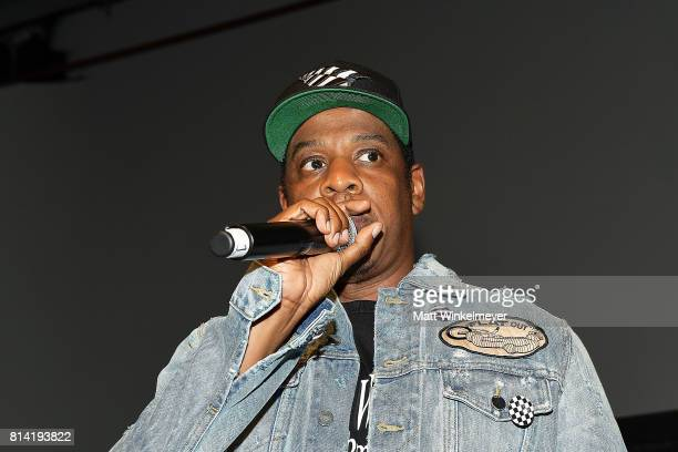 Jay-Z introduces Vic Mensa at Mack Sennett Studios on July 13, 2017 in Los Angeles, California.