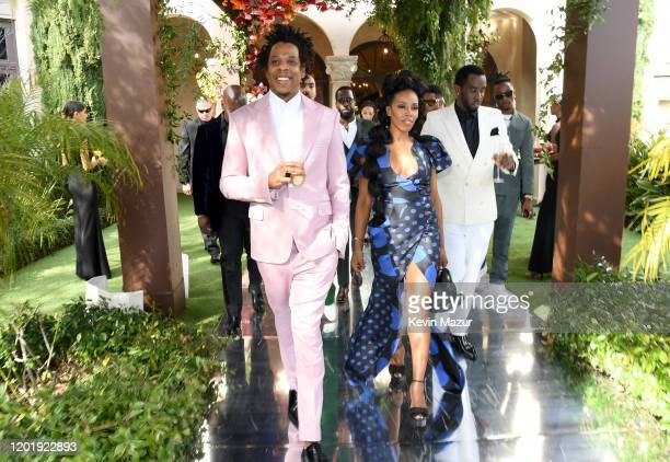 JayZ June Ambrose and Sean Combs attend 2020 Roc Nation THE BRUNCH on January 25 2020 in Los Angeles California