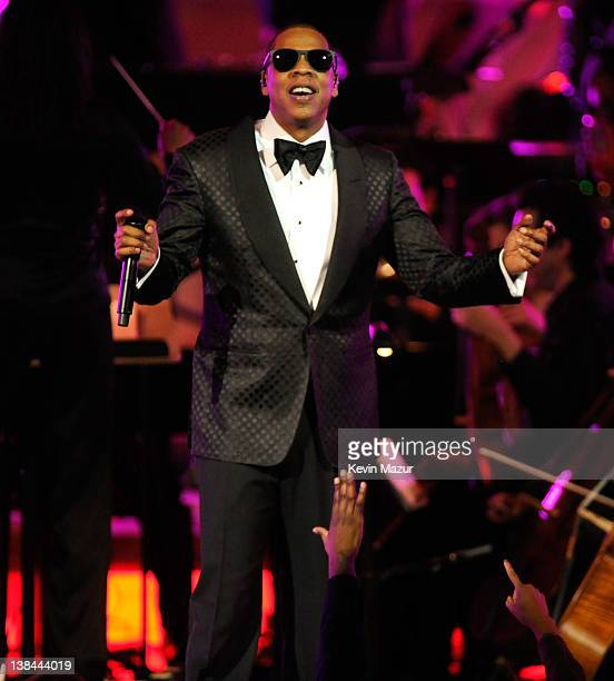 JayZ performs at Carnegie Hall to Benefit the United Way of New York City and the Shawn Carter Foundation on February 6 2012 in New York City