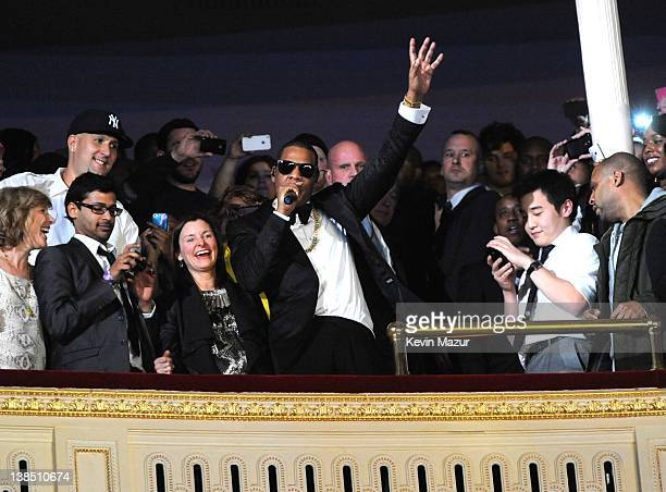 JayZ performs at Carnegie Hall to Benefit the United Way of New York City and the Shawn Carter Foundation on February 7 2012 in New York City
